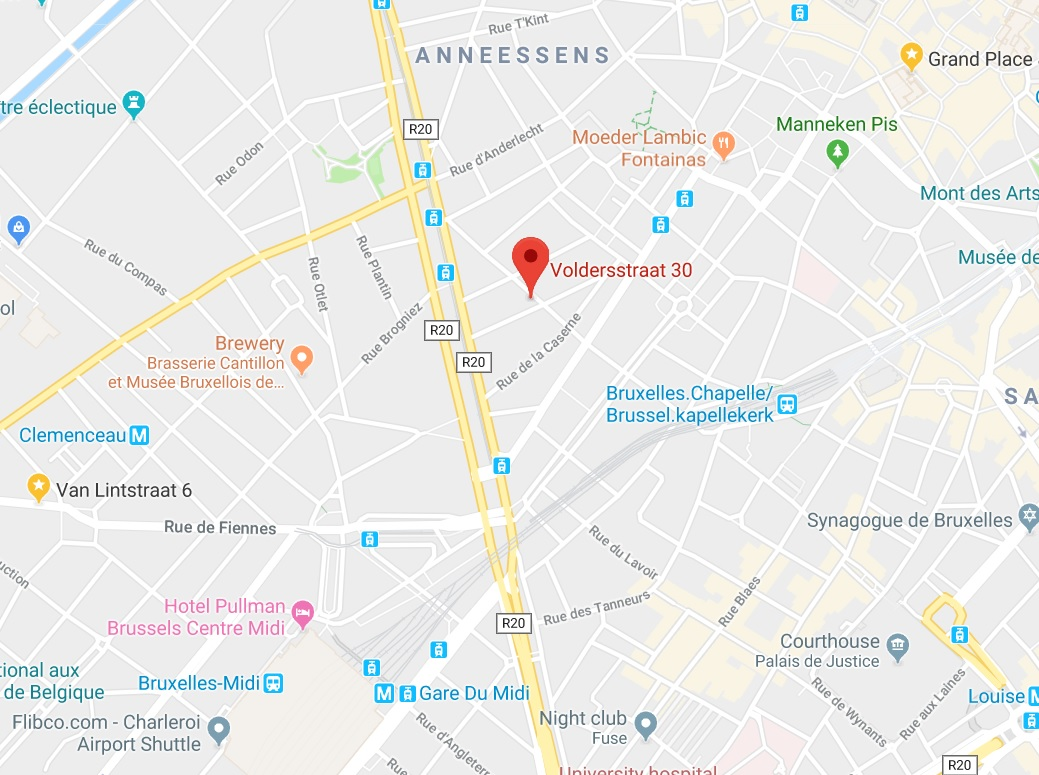 map for beer tasting brussels